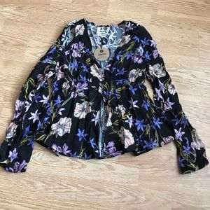 Jaase Boho Rayon Button Blouse sz S